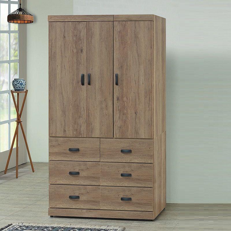 【CB24-5827】古橡木4×7尺衣櫥