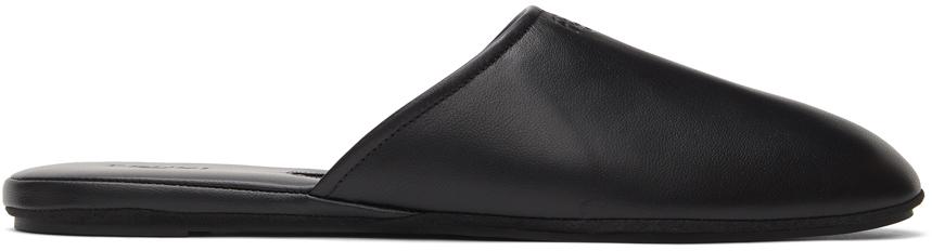 Fendi 黑色徽标穆勒鞋