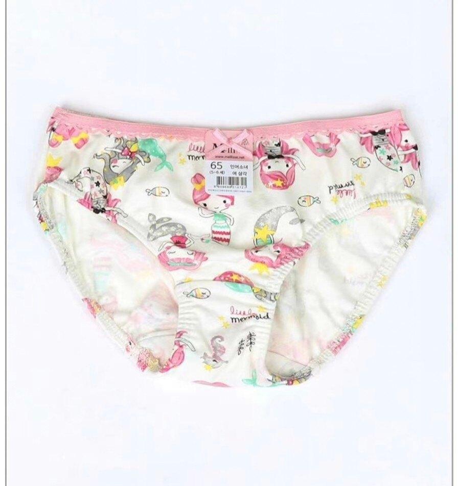 (預購)正韓國純棉  Mellisse兒童三角內褲60-85人魚公主 芒果姐姐童裝屋