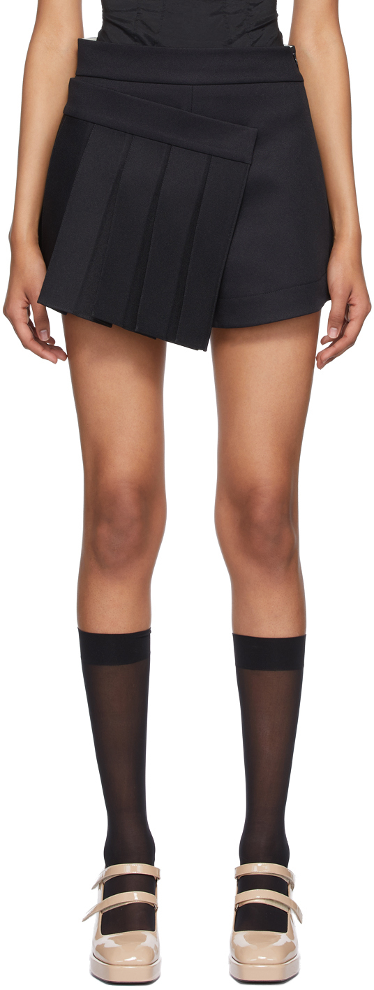 Shushu/Tong SSENSE 独家发售黑色褶裥裙裤