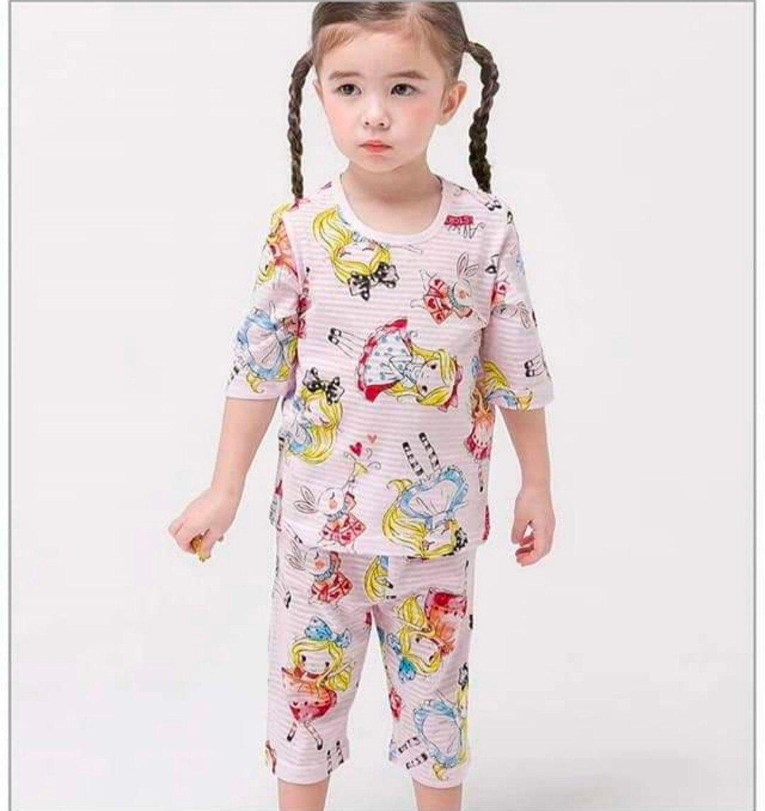 (現貨)正韓國純棉 Mellisse兒童居家服春夏款公主(七分袖)90-150cm 芒果姐姐童裝屋