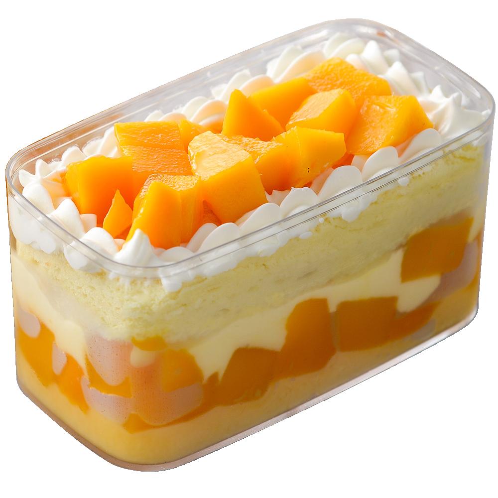 【新鮮芒果小浴缸蛋糕1入】新鮮愛文芒果/法式卡士達/雞蛋布丁/芒果蛋糕 oO氧沐手作甜點Oo