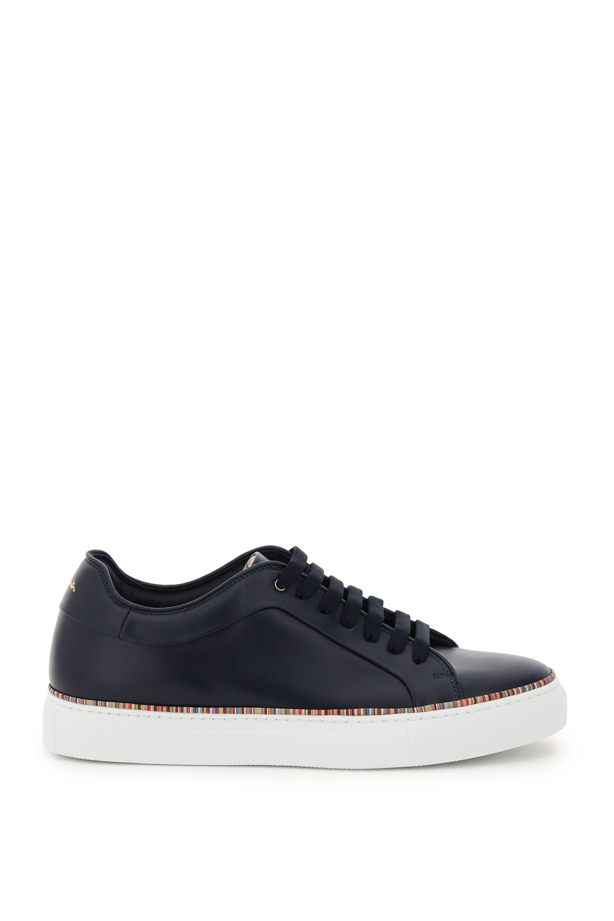 PAUL SMITH BASSO SNEAKERS WITH PIPING 8 Leather