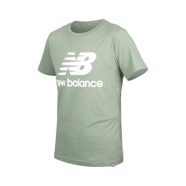 NEW BALANCE 男短袖T恤(純棉 慢跑 休閒 上衣 NB≡體院≡ AMT01575CEL