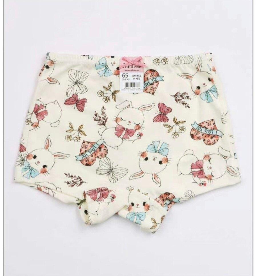 (預購)正韓國純棉  Mellisse兒童四角內褲60-85兔兔 芒果姐姐童裝屋