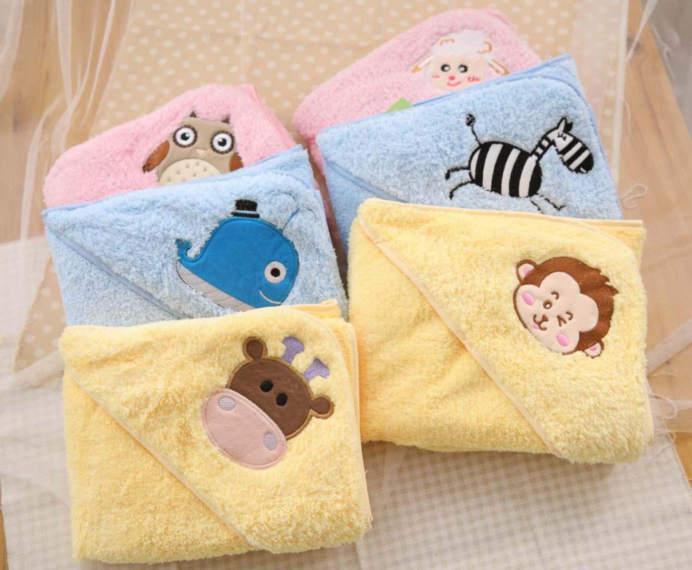 【NikoKids】無棉絮嬰兒專用超細纖維包巾/浴巾/保暖被 MIT 【75*75cm】【買一送一圖案隨機】