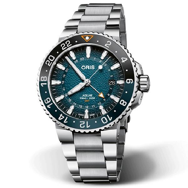 ORIS 豪利時 WHALE SHARK 限量鯨鯊機械腕錶 0179877544175-Set/鯨鯊紋藍 43.5mm