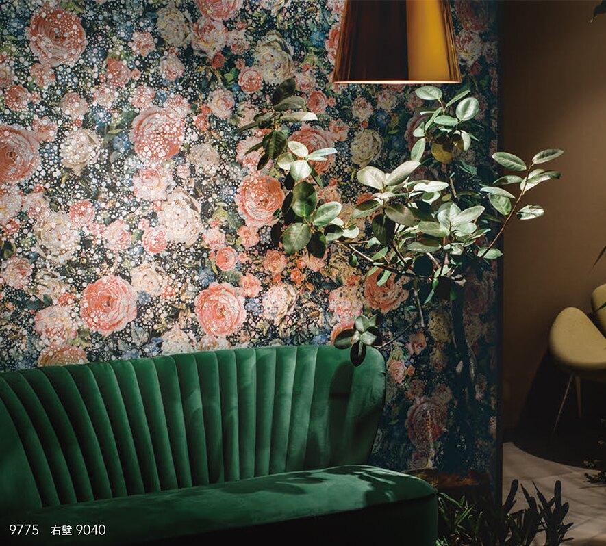 B123D-162-74~75 日本壁紙 溫柔浪漫 氣質花卉花朵(2色)