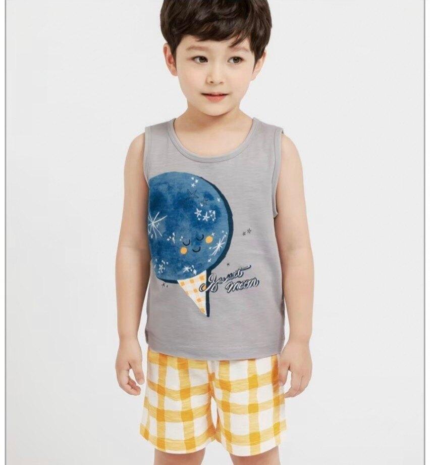 (預購)正韓國純棉 Mellisse兒童居家服春夏款(無袖)90-150cm 芒果姐姐童裝屋