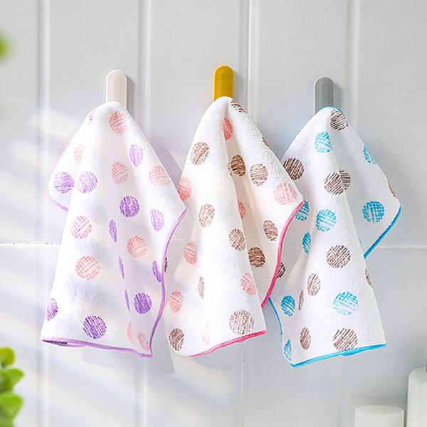 双星毛巾粉彩點剪絨小手巾23x23cm 手帕巾