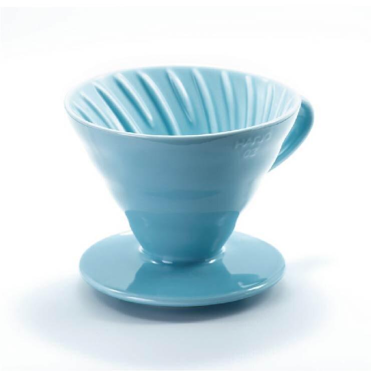 HARIO V60 陶瓷濾杯1~4杯/粉藍 /VDC-02-BU-TW