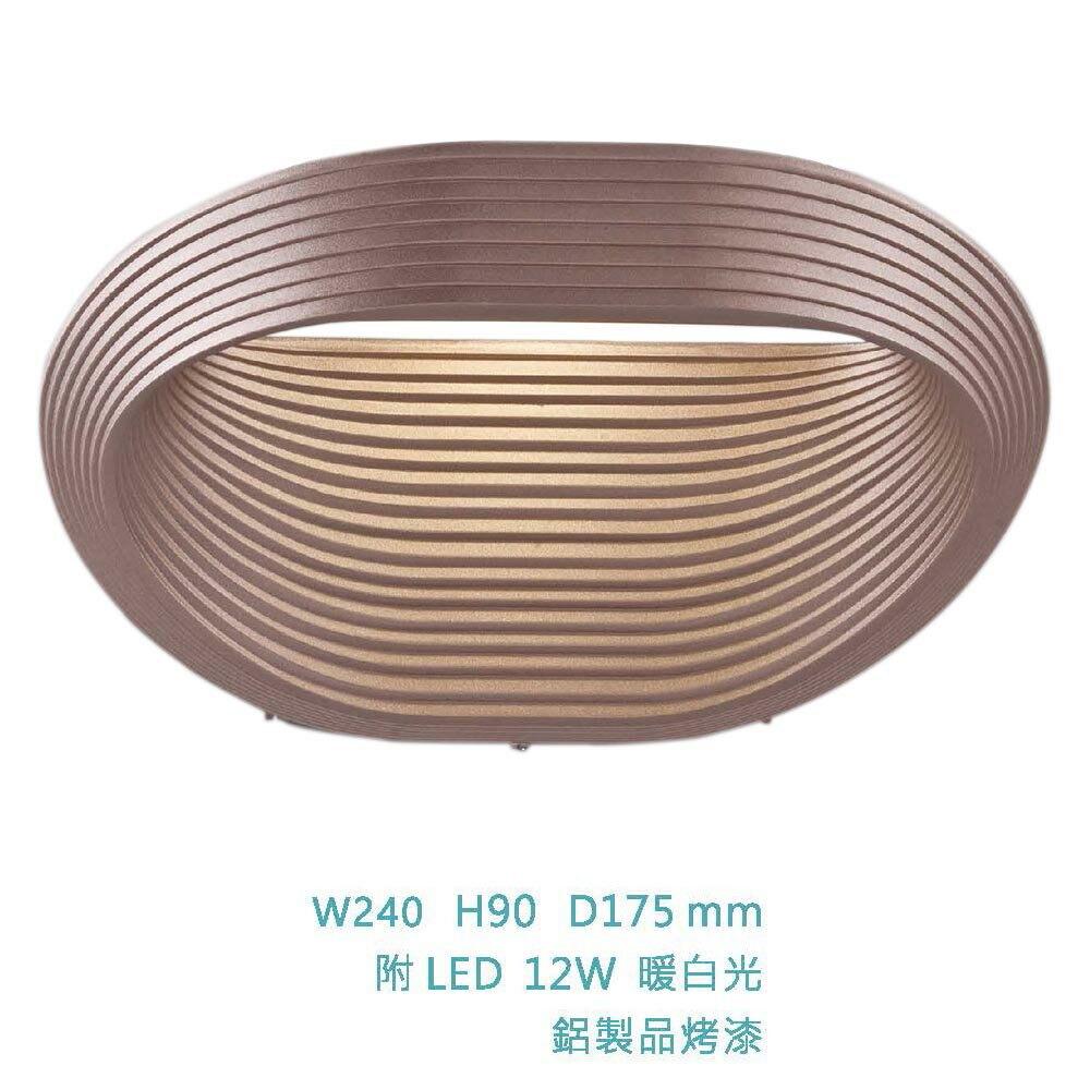 【大巨光】簡約風-附LED 12W單燈壁燈-小(ME-4311)
