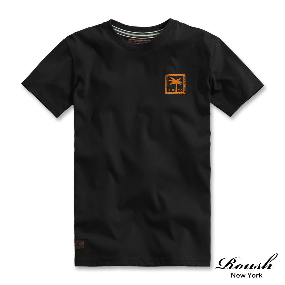 Roush - 夏威夷女郎晶油膠印短TEE【2110069】