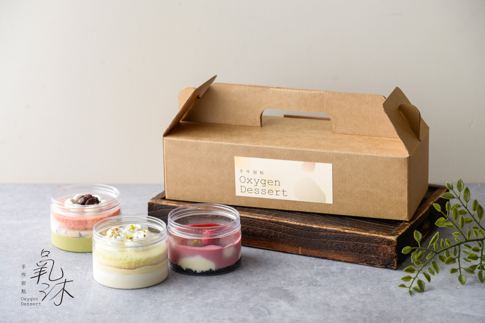 oO氧沐手作甜點Oo   氧氣瓶慕斯蛋糕 3入禮盒