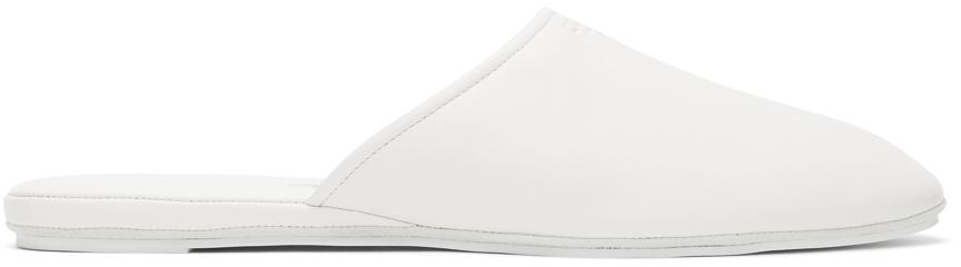 Fendi 白色徽标穆勒鞋