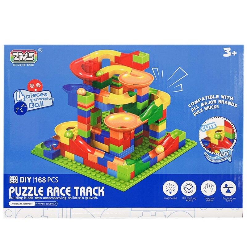 滾珠滑道積木 百變軌道 168pcs 1102/一盒入(促350) 兒童小顆粒益智積木 場景積木 立體軌道 玩具禮盒 益智玩具-CF150027