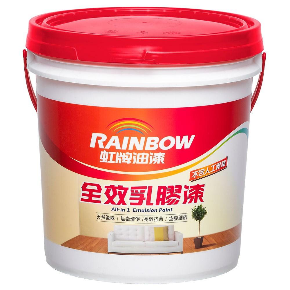 虹牌油漆 彩虹屋 全效抗裂乳膠漆 百合白 10L
