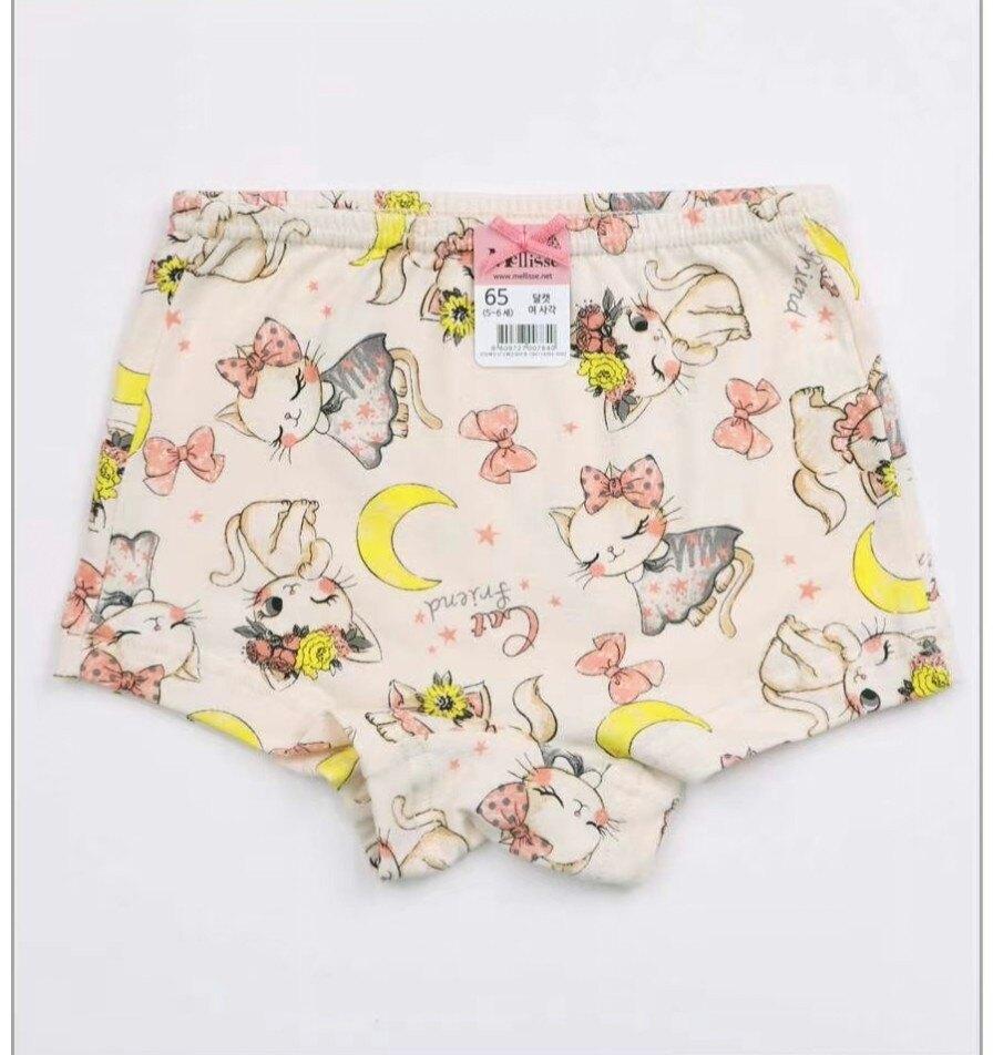 (預購)正韓國純棉  Mellisse兒童四角內褲60-85月亮貓咪 芒果姐姐童裝屋