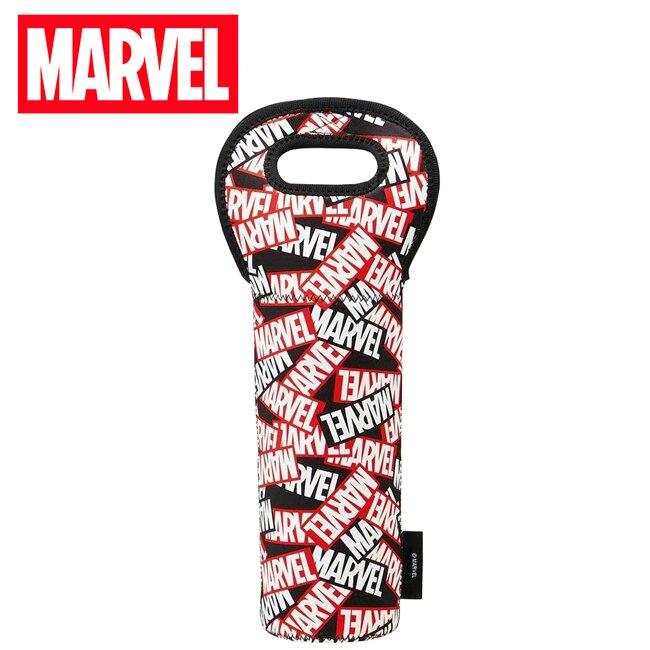 【日本正版】漫威英雄 潛水布 酒瓶袋 水壺袋 酒瓶套 紅酒袋 香檳袋 酒瓶手提袋 MARVEL Skater - 495977