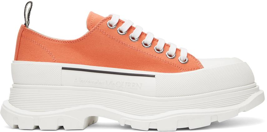 Alexander McQueen SSENSE 独家发售橙色 Tread Slick 运动鞋