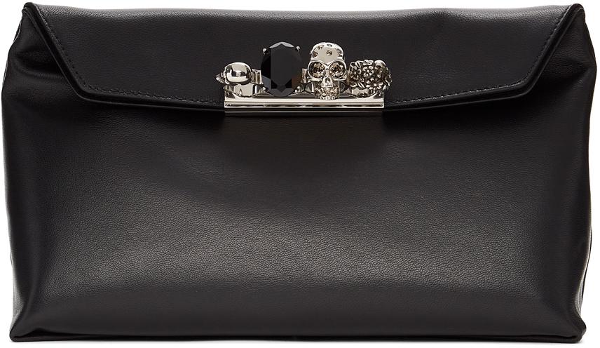 Alexander McQueen 黑色 Skull 手拿包