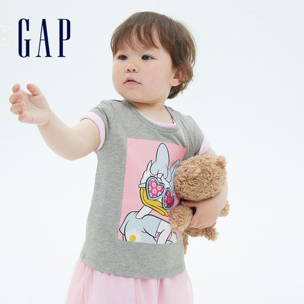 Gap 幼童 Gap x Disney 迪士尼系列純棉短袖T恤 701050-灰色