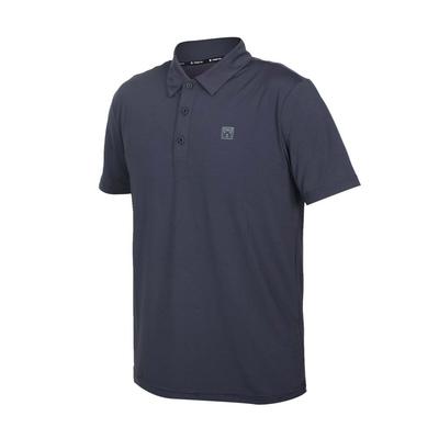 FIRESTAR 男彈性機能短袖POLO衫-運動 慢跑 路跑 上衣 涼感 高爾夫 反光 D1751-15 深灰