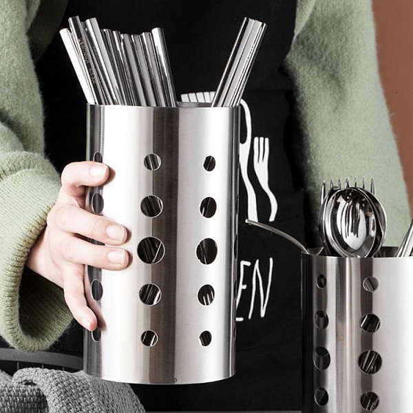廚房筷子筒置物架不銹鋼家用瀝水架快子摟家用筷子籠筷子簍筷子桶 初色家居館