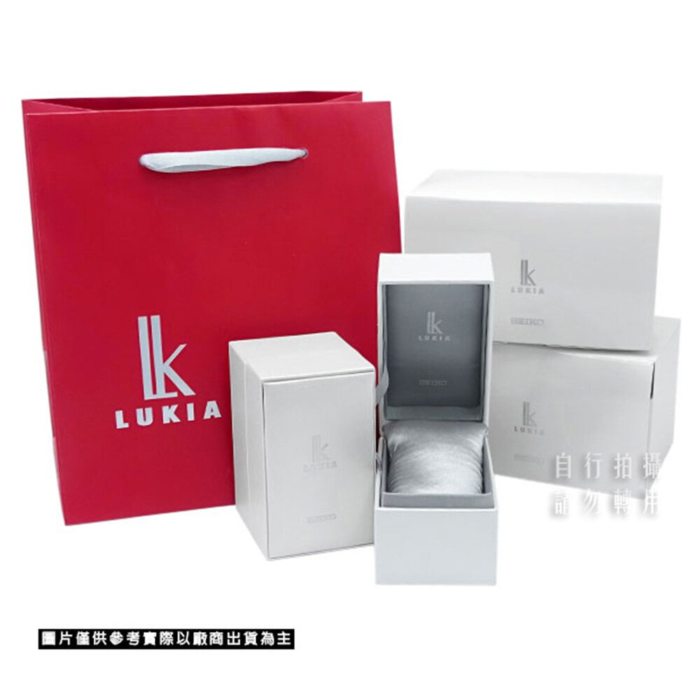 【SEIKO】精工 LUKIA 羅馬字 美鑽珍珠面盤 太陽能 鋼錶帶女錶 SUT396J1 @V147-0CR0KS 金 33.9mm