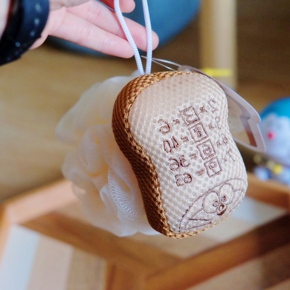 《哆啦A夢》日本商品 記憶吐司沐浴球 洗澡棉 起泡球DORAEMON