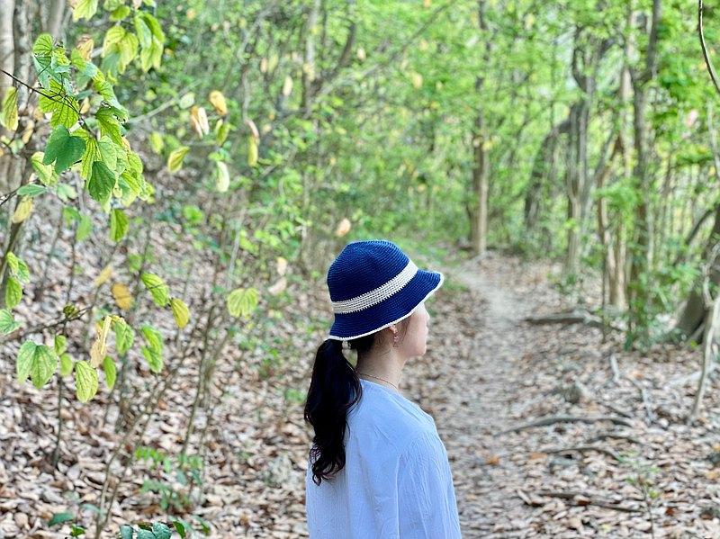 【溱織】漁夫帽 可愛與率性兼具的丹寧混色藍、海軍藍