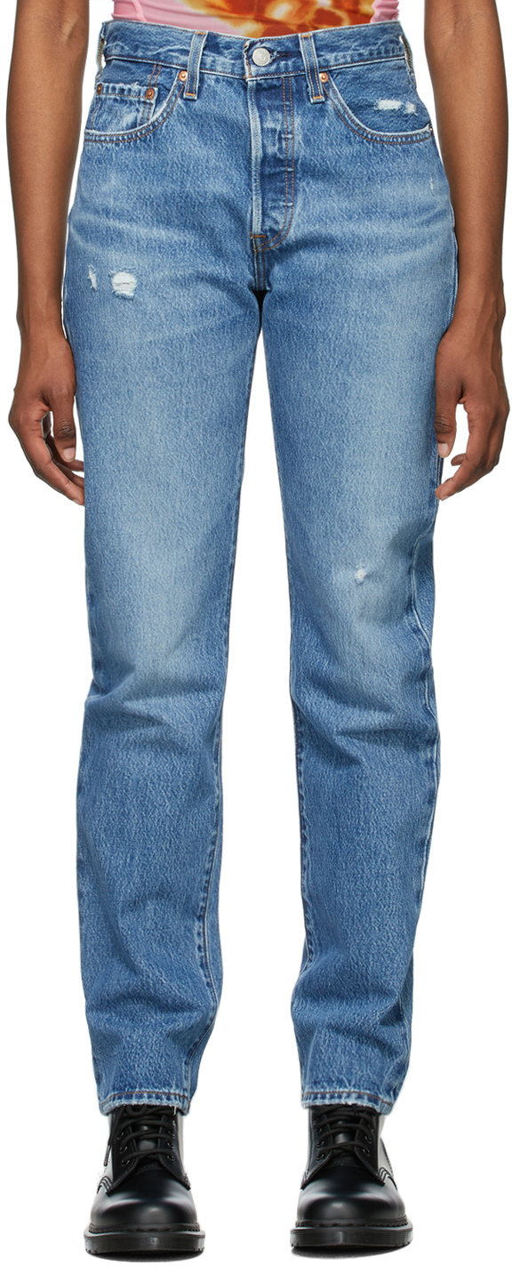 Levi's 蓝色 501 Original Fit 牛仔裤