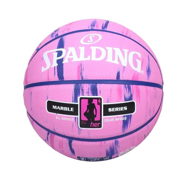 SPALDING NBA 4Her #6號女用橡膠籃球(室外 戶外 6號球 斯伯丁 免運 ≡排汗專家≡