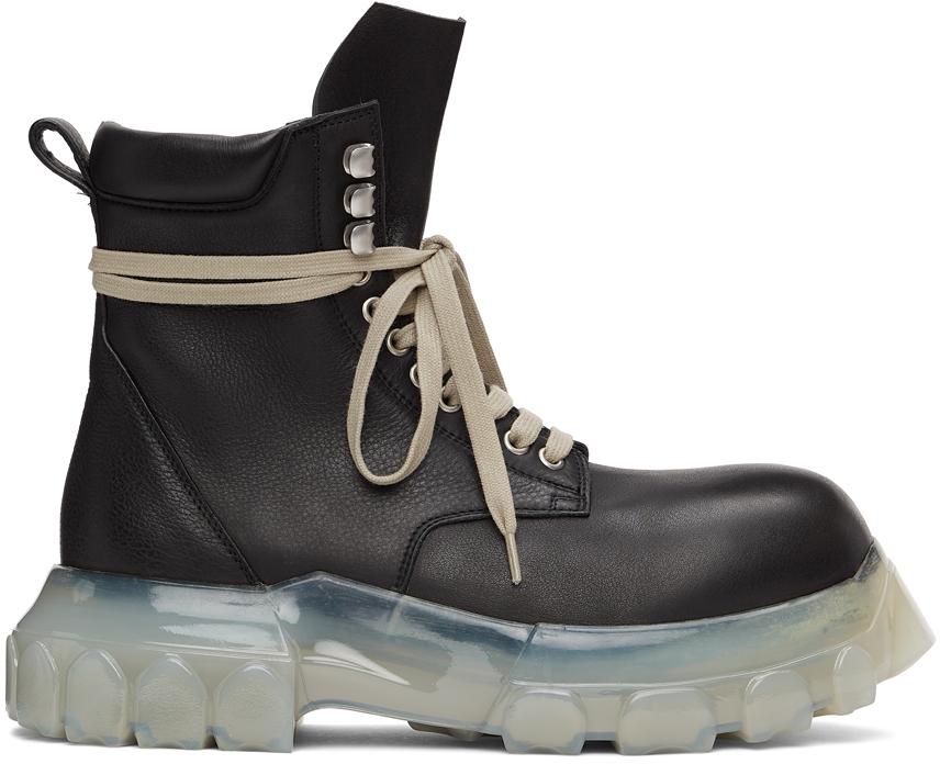 Rick Owens 黑色 Army Bozo Tractor 踝靴