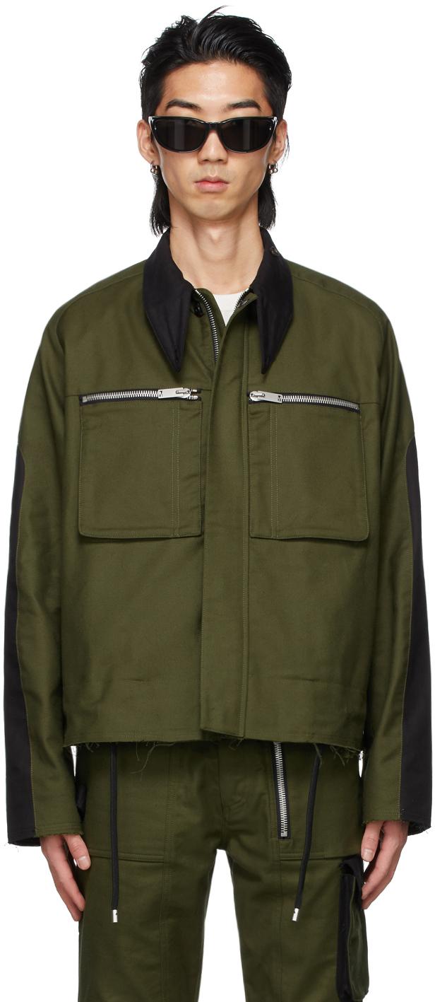ADYAR SSENSE 独家发售军绿色 Trench 夹克