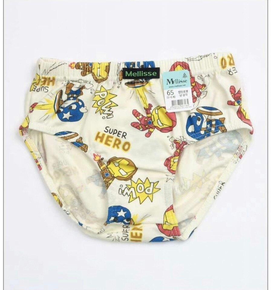 (預購)正韓國純棉  Mellisse兒童三角內褲60-85鋼鐵人 芒果姐姐童裝屋