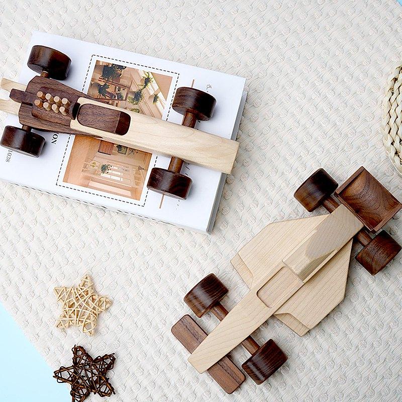 實木小汽車賽車模型兒童禮物童年懷舊玩具益智啟蒙小孩動手能力