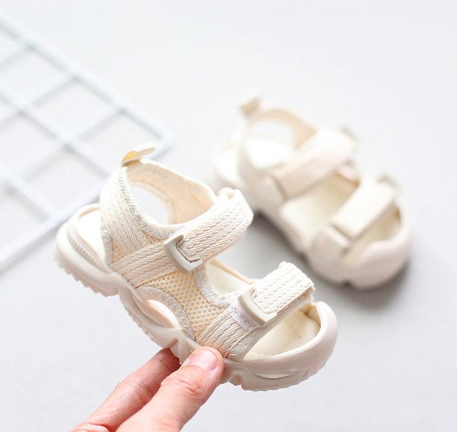 【NikoKids】學步鞋/涼鞋/造型涼鞋/米色(NK336)