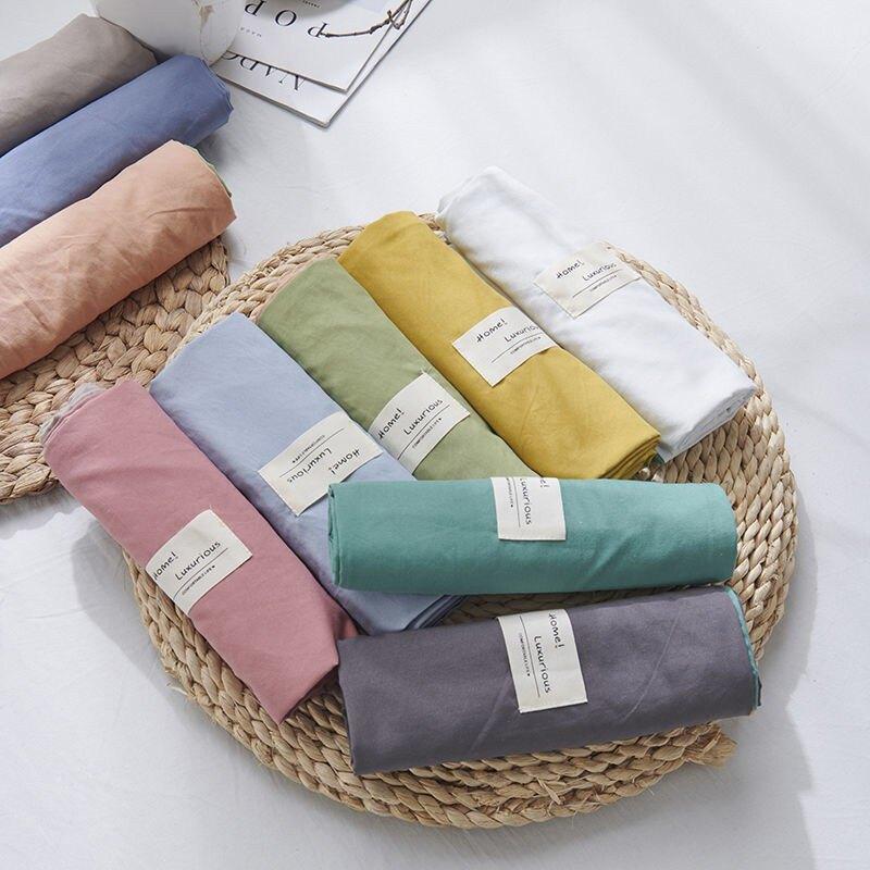 床包四件組  四件套日式水洗棉床上用品春網紅款被套床單人宿舍三件套條紋格子