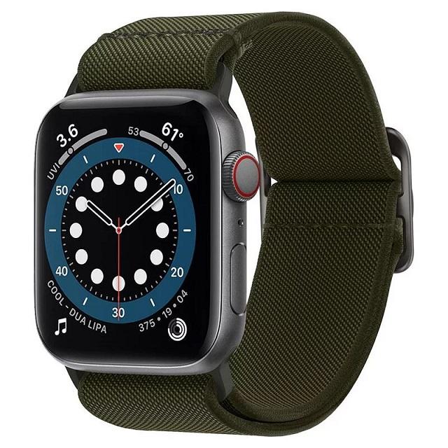 Spigen Apple Watch Sereis SE/6/5/4/3/2/1 Lite Fit-彈力編織錶帶(卡其綠)AMP02288