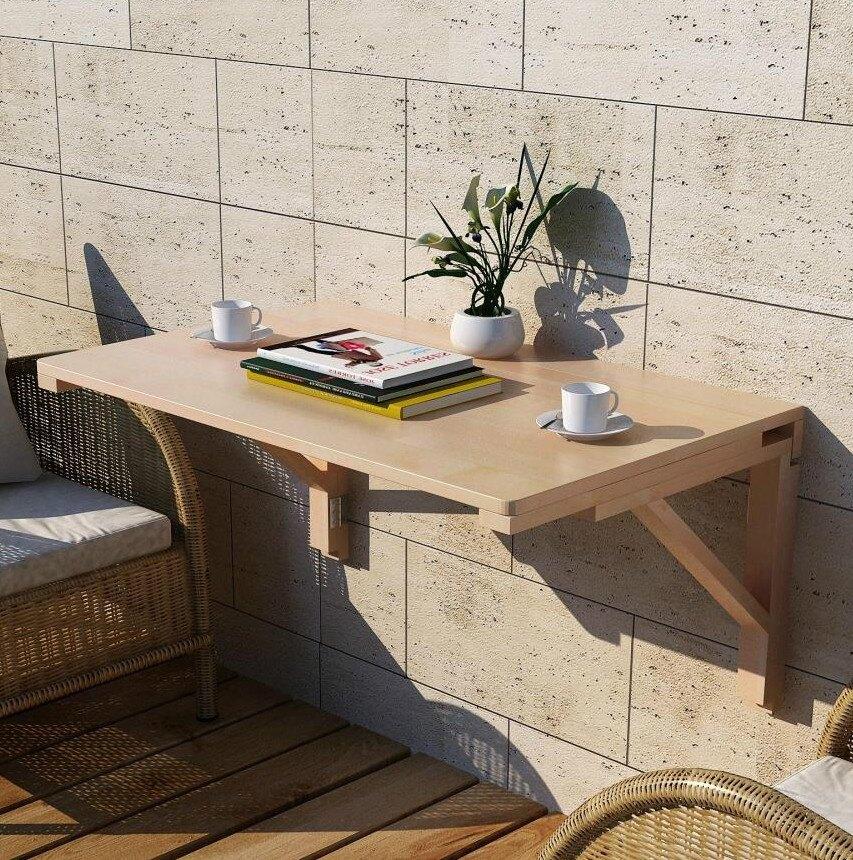 壁掛桌/飯桌 實木壁掛折疊桌小戶型壁掛連壁桌靠牆電腦桌隱形牆桌簡易電腦桌【XXL6978】