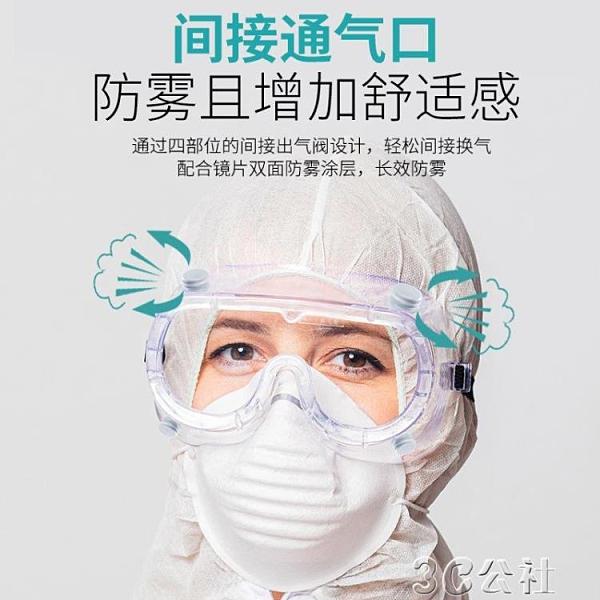 護目鏡 護目鏡防疫目鏡隔離眼罩防護眼鏡透明護目平光鏡防病毒罩 快速出貨