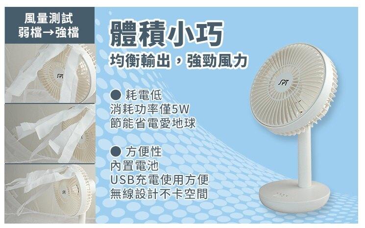 尚朋堂 5吋 4段速USB充電DC直流桌扇 SF-0520U