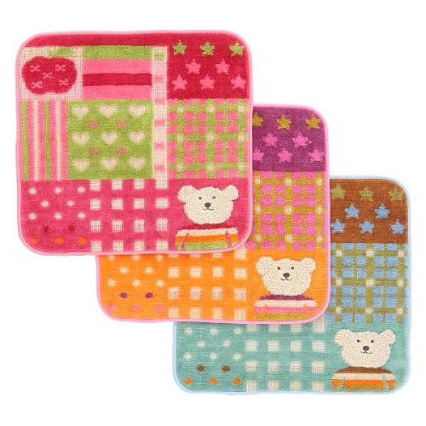 彩虹熊 小方巾/825-697