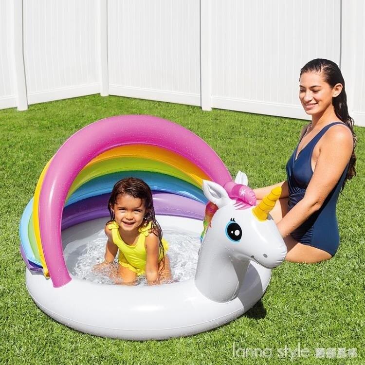 嬰兒童海洋球池圍欄充氣彩色球波波球池游戲屋室內寶寶玩具 全館新品85折