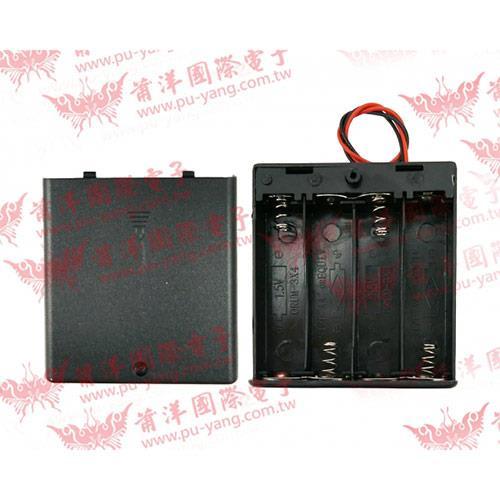 電池盒3號*4有蓋+SW 1463C-4