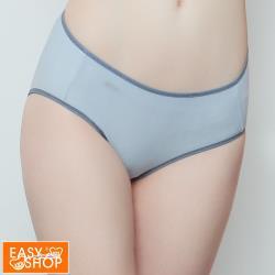 【EASY SHOP】RUN-涼感透氣中腰平口內褲-灰藍色