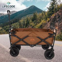 【LIFECODE】露營推車/折疊拖車/兒童寵物推車(85x50x28cm/8吋輪-帶剎車) 2色可選