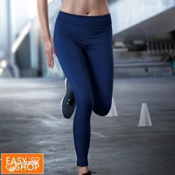 【EASY SHOP】Audrey-就是愛運動-MIT-內搭針織九分緊身褲-活耀藍
