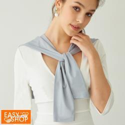 【EASY SHOP】Audrey-保暖能亮衣-科技機能纖維促進循環造型披肩-魔法灰